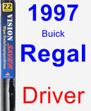 Driver Wiper Blade for 1997 Buick Regal - Vision Saver