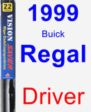 Driver Wiper Blade for 1999 Buick Regal - Vision Saver