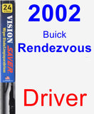 Driver Wiper Blade for 2002 Buick Rendezvous - Vision Saver