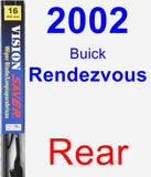Rear Wiper Blade for 2002 Buick Rendezvous - Vision Saver