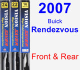 Front & Rear Wiper Blade Pack for 2007 Buick Rendezvous - Vision Saver