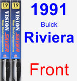 Front Wiper Blade Pack for 1991 Buick Riviera - Vision Saver
