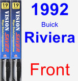 Front Wiper Blade Pack for 1992 Buick Riviera - Vision Saver