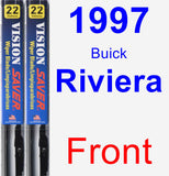 Front Wiper Blade Pack for 1997 Buick Riviera - Vision Saver