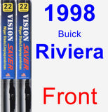 Front Wiper Blade Pack for 1998 Buick Riviera - Vision Saver