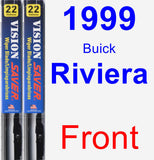 Front Wiper Blade Pack for 1999 Buick Riviera - Vision Saver