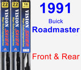 Front & Rear Wiper Blade Pack for 1991 Buick Roadmaster - Vision Saver