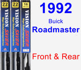 Front & Rear Wiper Blade Pack for 1992 Buick Roadmaster - Vision Saver