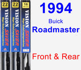 Front & Rear Wiper Blade Pack for 1994 Buick Roadmaster - Vision Saver
