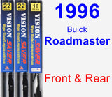 Front & Rear Wiper Blade Pack for 1996 Buick Roadmaster - Vision Saver