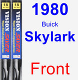 Front Wiper Blade Pack for 1980 Buick Skylark - Vision Saver