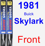 Front Wiper Blade Pack for 1981 Buick Skylark - Vision Saver