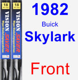 Front Wiper Blade Pack for 1982 Buick Skylark - Vision Saver