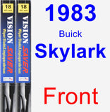 Front Wiper Blade Pack for 1983 Buick Skylark - Vision Saver