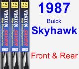 Front & Rear Wiper Blade Pack for 1987 Buick Skyhawk - Vision Saver