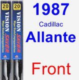 Front Wiper Blade Pack for 1987 Cadillac Allante - Vision Saver