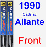 Front Wiper Blade Pack for 1990 Cadillac Allante - Vision Saver