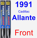 Front Wiper Blade Pack for 1991 Cadillac Allante - Vision Saver