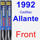 Front Wiper Blade Pack for 1992 Cadillac Allante - Vision Saver