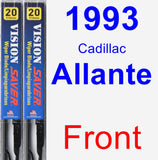 Front Wiper Blade Pack for 1993 Cadillac Allante - Vision Saver