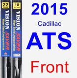 Front Wiper Blade Pack for 2015 Cadillac ATS - Vision Saver