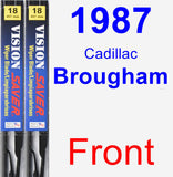 Front Wiper Blade Pack for 1987 Cadillac Brougham - Vision Saver