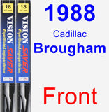 Front Wiper Blade Pack for 1988 Cadillac Brougham - Vision Saver
