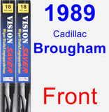 Front Wiper Blade Pack for 1989 Cadillac Brougham - Vision Saver