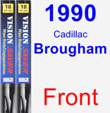 Front Wiper Blade Pack for 1990 Cadillac Brougham - Vision Saver