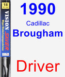 Driver Wiper Blade for 1990 Cadillac Brougham - Vision Saver