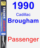 Passenger Wiper Blade for 1990 Cadillac Brougham - Vision Saver