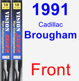 Front Wiper Blade Pack for 1991 Cadillac Brougham - Vision Saver