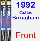 Front Wiper Blade Pack for 1992 Cadillac Brougham - Vision Saver
