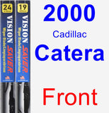 Front Wiper Blade Pack for 2000 Cadillac Catera - Vision Saver
