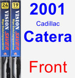 Front Wiper Blade Pack for 2001 Cadillac Catera - Vision Saver