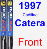 Front Wiper Blade Pack for 1997 Cadillac Catera - Vision Saver