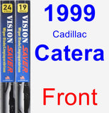 Front Wiper Blade Pack for 1999 Cadillac Catera - Vision Saver