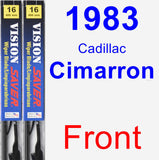 Front Wiper Blade Pack for 1983 Cadillac Cimarron - Vision Saver