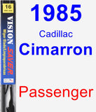 Passenger Wiper Blade for 1985 Cadillac Cimarron - Vision Saver
