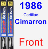 Front Wiper Blade Pack for 1986 Cadillac Cimarron - Vision Saver