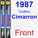 Front Wiper Blade Pack for 1987 Cadillac Cimarron - Vision Saver