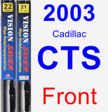 Front Wiper Blade Pack for 2003 Cadillac CTS - Vision Saver