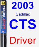 Driver Wiper Blade for 2003 Cadillac CTS - Vision Saver