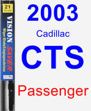 Passenger Wiper Blade for 2003 Cadillac CTS - Vision Saver