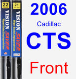 Front Wiper Blade Pack for 2006 Cadillac CTS - Vision Saver