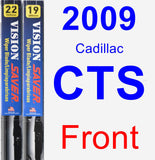 Front Wiper Blade Pack for 2009 Cadillac CTS - Vision Saver