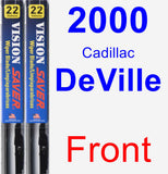 Front Wiper Blade Pack for 2000 Cadillac DeVille - Vision Saver