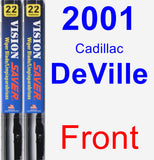 Front Wiper Blade Pack for 2001 Cadillac DeVille - Vision Saver