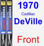 Front Wiper Blade Pack for 1970 Cadillac DeVille - Vision Saver