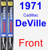 Front Wiper Blade Pack for 1971 Cadillac DeVille - Vision Saver